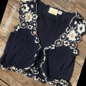 ANTHROPOLOGIE adorable crochet sweater vest